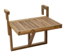 Design Balcony Table Foldable Hanging Real Wood 60x45 CM