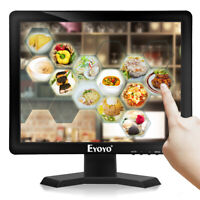 "Eyoyo 15"" Inch Touch Screen Monitor 1024*768 Support VGA/HDMI/USB for projector"