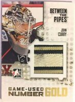 2009-10 Between The Pipes Game-Used Number Gold John Curry Vault Red 1/1