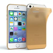 Schutz Hülle für Apple iPhone SE/ 5 / 5S Cover Handy Case Matt Gold