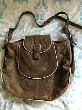 Lovely Whistles distressed leather shoulder bag, slouchy, very soft, VGC