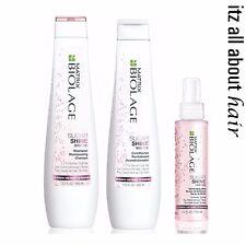 Matrix Biolage Sugar Shine Shampoo Conditioner Illuminating Mist Trio Pack