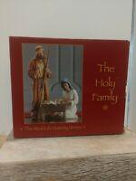 New Real Life Nativity Series,The Holy Family, 4pc Set: Jesus-Mary-Joseph-Manger