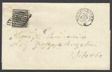 Italy Roman State 1852 #3 2Baj greenish white on Ronciglione to Viterbo 1867 cvr