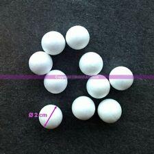 Lot 20 petites Boules polystyrène diamètre 2 cm/20 mm, Billes Styro blanc bien r