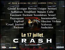 CRASH Affiche Cinéma GEANTE 4x3 WIDE Movie Poster David Cronenberg