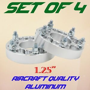 "4 Dual Drilled 5x100 5x4.25 to 5x4.5 Wheel Spacer Adapters 1.25"" thick"