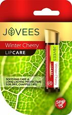 Jovees Lip Care Winter Cherry 4g with SPF 15 Helps to Protect Dry & Chapped Lips