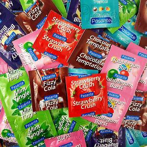 Pasante Parfums Condoms Mélange Fraise Tropical Chocolat 6 12 24 50 100 Pièces