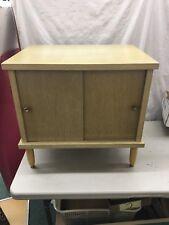 Mid Century Modern RECORD LP Storage blonde vintage cabinet credenza 60s