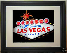 Welcome to Fabulous Las Vegas Nevada Famous Entrance Sign Framed Photo