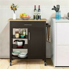 Yaheetech Rolling Kitchen Cart Vintage Coaster Home Furniture w/Drawer 4-Tier...