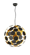 Lampadario moderno nero e oro 6 luci trio 309900632 Discalgo