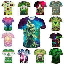 3D Graphic Print Women Men Funny Hiphop  Short Sleeve Tops Shirts & T-Shirts