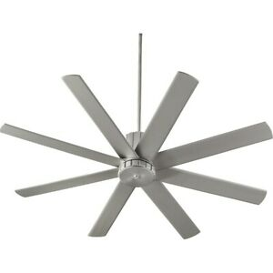 Quorum Proxima 60' Ceiling Fan, Satin Nickel - 96608-65