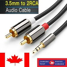 3.5 mm Jack Plug Male to 2 RCA Stereo Audio Cable Metal Connector 1/3/5 Meter CA