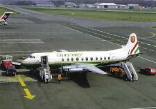 Guernsey Airlines Vickers Viscount V-806 G-AOYG at Newcastle Airport UK Postcard