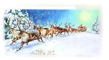 Mini Calendario De Adviento tarjeta de Navidad-Santa viene-Winter Wonderland