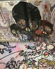 TAKASHI MURAKAMI SIGNED with Flower Drawing Limited Edition Silk Scarf BRAND NEW