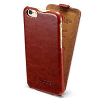 For Apple iPhone XR XS Max X 7 8 Vertical Flip Case Leather Pouch Slim Cover