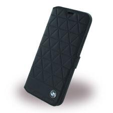 BMW Signature Hexagon Leder BookCase Cover Handytasche Apple iPhone X Schwarz