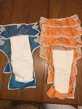 New ListingLot of 6 well-worn Thirsties Cloth Large Diapers
