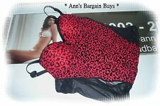 Hanky Panky-Womens Size 10/BC Corset-PushUp-Bustier-Leopard Print-Red/Black-NWOT