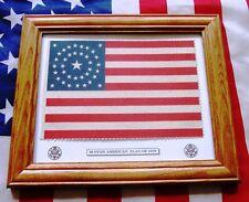 Framed 38 Star American Flag, Colorado Statehood 1876