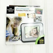 The Sharper Image Digital Portable Photo Album LCD Screen USB 2.0 Rechargeable