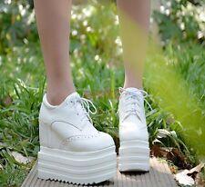 New Platform Shoes Hidden Wedge High Heels Womens Creeper Sneaker Ankle Boots