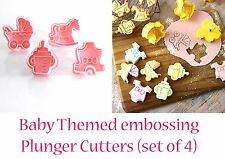 Baby Shower Cookie Fondant  Cutter Pram Bottle Horse Romper Cup Cake Topper