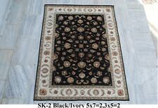 India 150x210 5x7 Hand Knotted Soft Wool Viscose Art Silk Carpet Area Rug Kaleen
