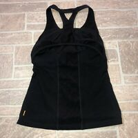 Lucy Small Black Tank Top Womens Built in Bra