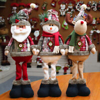 KE_ Santa Claus Snowman Elk Christmas Standing Doll Showcase Ornaments Xmas De