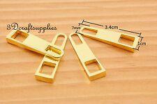 #5 zipper pull zinc zipper puller Standard style gold 3.4cm x 1cm 10 pcs i79
