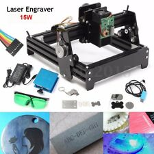 15W CNC Laser Engraver Metal Stone Wood Engraving Marking Machine Image Printer