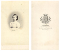 Provost, Portrait d'une fillette CDV vintage albumen carte de visite,  Ti