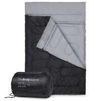 Double Sleeping Bag - Extra Large Queen Size - Converts to 2 Singles - 3 Season