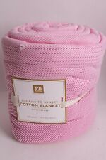 Pottery Barn PB Teen Classic Organic Cotton Blanket FQ 86x86 pink full queen f/q