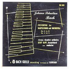 BACH: Concertos Harpsichord RAPF Bach Guild 50s ORIG Vinyl LP NM-