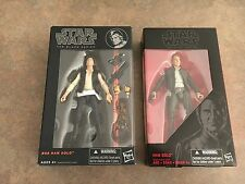 Star Wars The Black Series, 2 Han Solo Figures, Young And Old, NIP, 6 In. Figure
