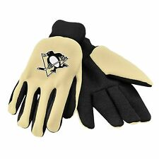 Pittsburgh Penguins Gloves Sports Logo Utility Work Garden NEW Colored Palm