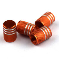 Wheel Tyre Tire Air Valve Stem Dust Cover Caps Orange For Motorcycles Car