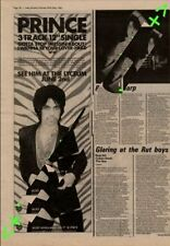 Prince Gotta Stop (Messin' About) Advert NME Cutting 1981