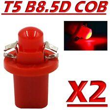 2 LED T5 B8.5D COB ROSSO Lampade Lampadine Luce Per Cruscotto Quadro Strumenti