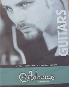 Original 2000 ADAMAS by OVATION guitar brochure with 7 numbered pages