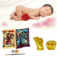 Baby 3D Hand Foot Printing Mold Powder Plaster Casting Growth Kit Gift Y4O0