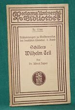 Schiller, Wilhelm Tell, Erläuterungen zu Meisterwerken 4. Band, reclam 3788