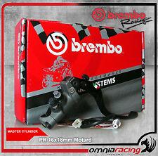 Brembo Racing Pompa Freno Radiale PR 16 x 18 mm Leva Corta per Motard 110476082