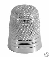 STERLING SILVER THIMBLE WITH KNURLED PATTERN. HALLMARKED SILVER NEW THIMBLE